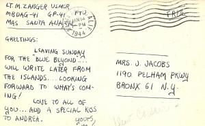 Postcard 1/14/44
