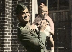 Zanger holding baby Andrea